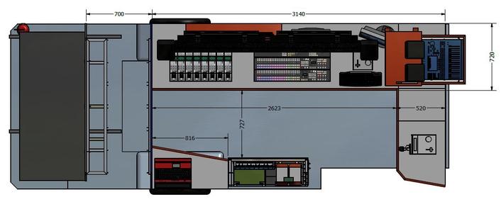 Croatel HD OBVan 4HD Floorplan