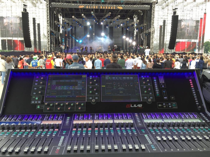 Allen & Heath's new dLive mixing system managed FOH, monitors and broadcast for a 30,000 capacity festival held in Sao Paulo, Brazil