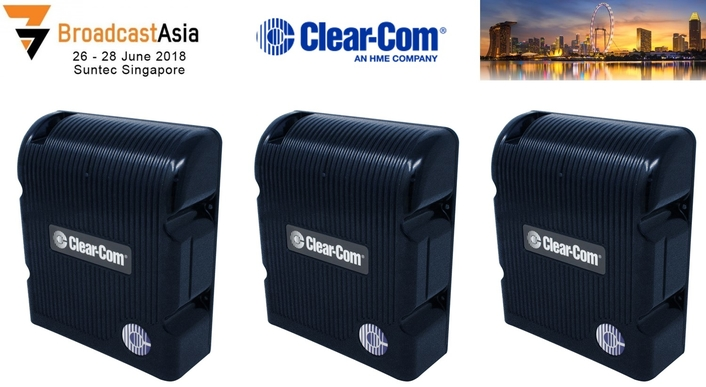 Clear-Com's New FreeSpeak II IP Transceiver Previews at BroadcastAsia 2018
