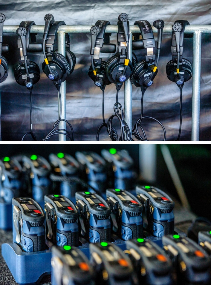FreeSpeak II wireless intercoms and HelixNet digital partyline helps keep performers safe and crews connected