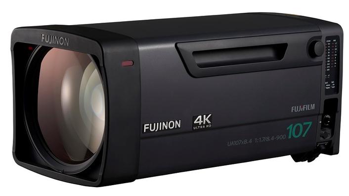 "FUJIFILM has announced three new UA-Series 4K 2/3"" Fujinon Broadcast lenses: Super telephoto UA107x8.4 , UA80x9 (w/1.2.Ext) and UA13x4.5 Super wide-angle lens"