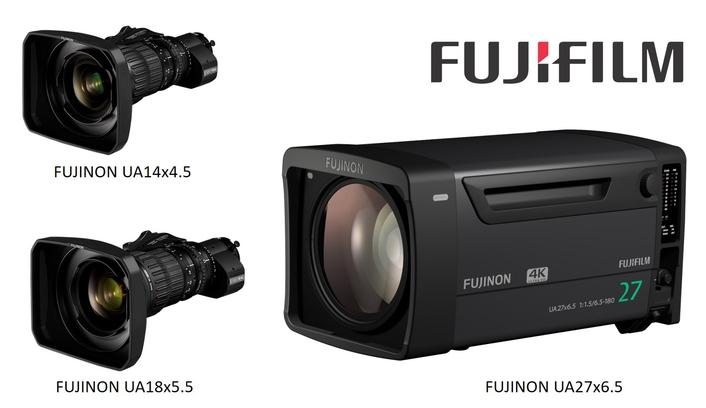 FUJINON UA18x5.5, FUJINON UA14x4.5 and FUJINON UA27x6.5