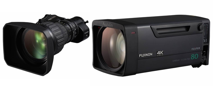 The UA22x8 is the first portable zoom lens in the series, and the new UA80X9 is the first field lens.