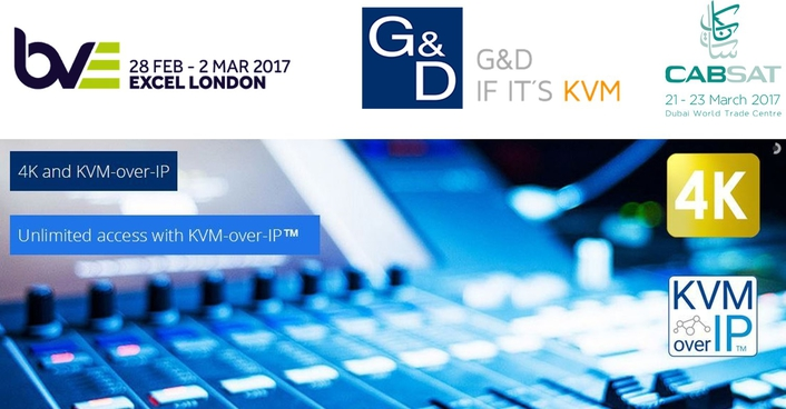 G&D at BVE and CABSAT 2017