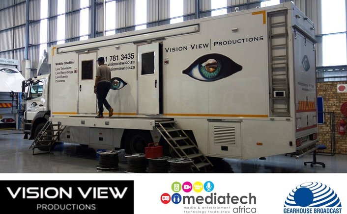 Vision View to showcase its Gearhouse Broadcast-built HD OB vehicle at Mediatech Africa