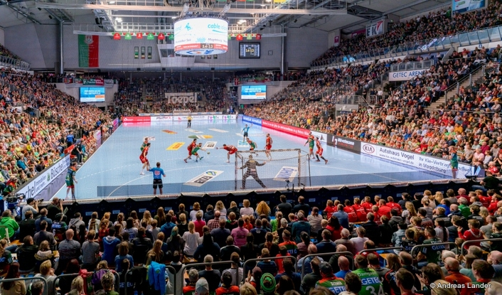 The GETEC Arena in Magdeburg with a new sound system
