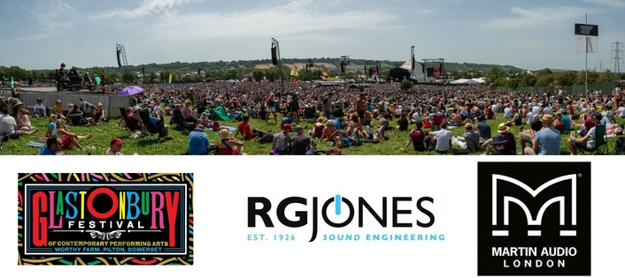 RG Jones Deploys Martin Audio Across Four Major Stages of Glastonbury