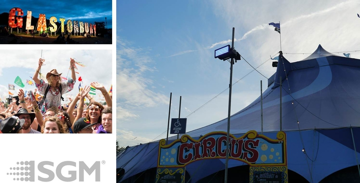 SGM's groundbreaking IP65-rated LED solutions featured right across this year's vast Glastonbury Festival site