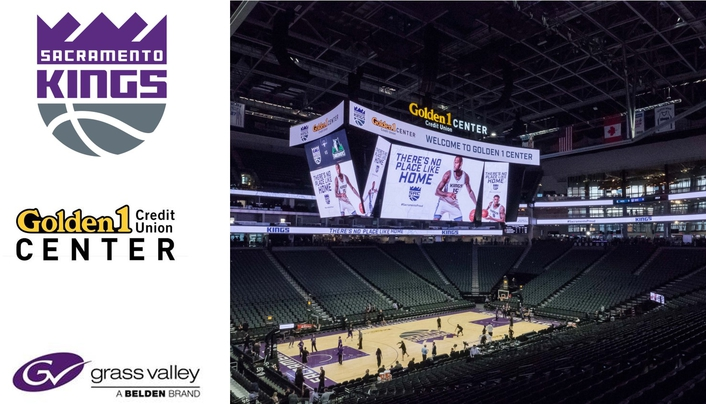 Sacramento Kings Equip State-of-the-Art Golden 1 Center with 4K Solutions from Grass Valley and Belden