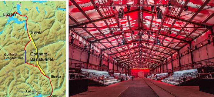 Gotthard Base Tunnel's opening show radiates with GLP impression X4 Bars