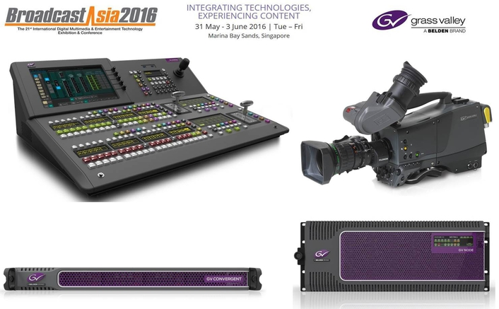 Grass Valley Showcases End-to-End Production Solutions for better storytelling at BroadcastAsia2016