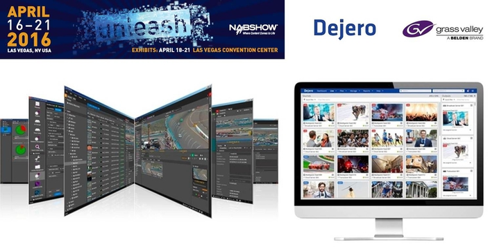 Grass Valley and Dejero Demonstrate Integrated Solution to Simplify News Workflow at NAB