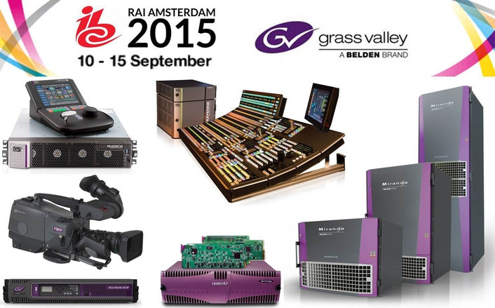 At IBC 2015, Grass Valley, a Belden Brand, will be showcasing its full portfolio of broadcast solutions including cameras, switchers, routers, servers, multiviewers, editing software, automation, playout