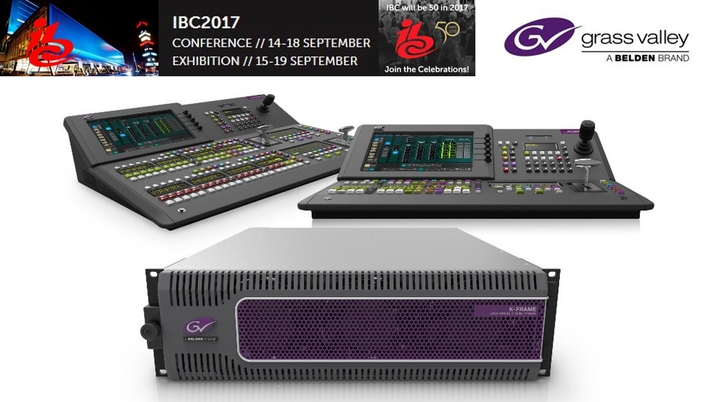 Grass Valley Focuses on End-to-End Solutions for Live Production, News and Content Delivery at IBC 2017