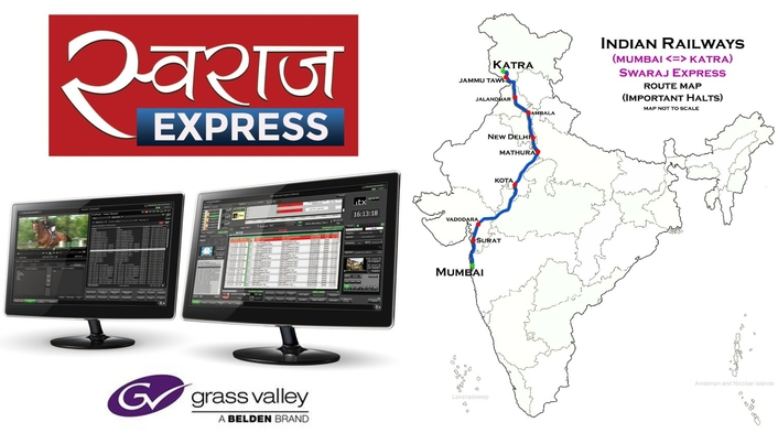 Swaraj Express Chooses Grass Valley Solutions for Future-Ready Newsroom Capability
