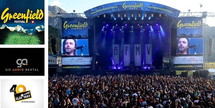 Clay Paky rocks out on Greenfield festival
