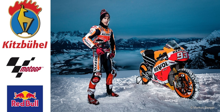 MotoGP vs the Hahnenkamm: Marquez goes for a spin on snow