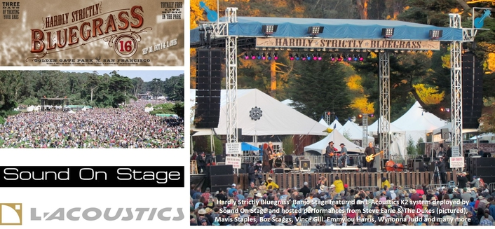 Absolutely Positively L-Acoustics for Hardly Strictly Bluegrass