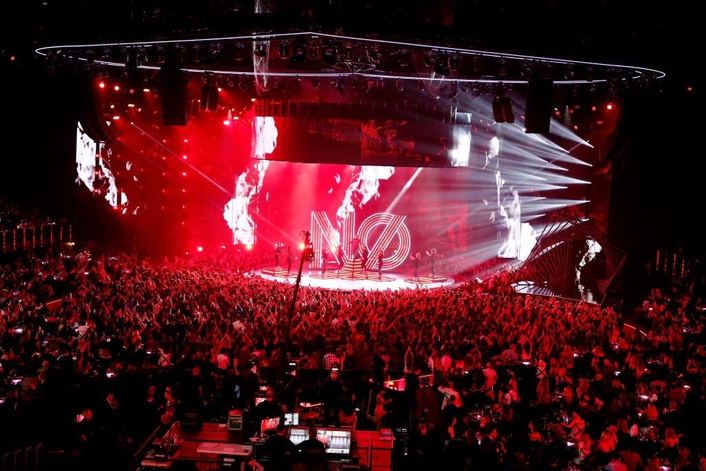 JBL by HARMAN Line Arrays Supply House Sound at the Forum for Live Broadcast of iHeartRadio Music Awards