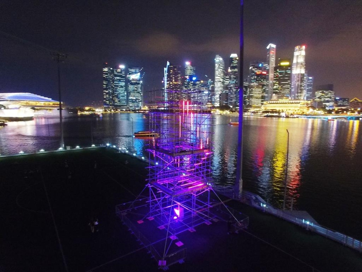 Martin Professional Singapore provides striking visual support for Sound Artist ZUL's mixed media installation at Asia's leading sustainable light arts festival