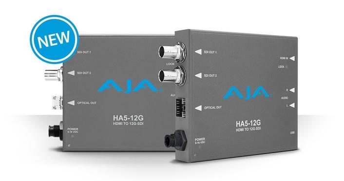 AJA HA5-12G Mini-Converters Now Available