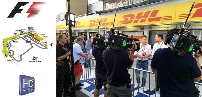 HDwireless provides live transmission of Formula 1