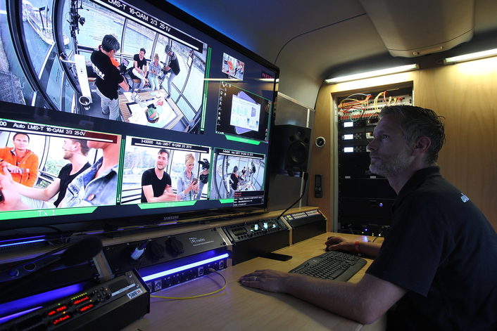 Wireless camera technology allows extraordinary SWR-TV broadcast