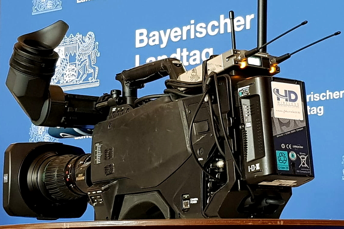 HDwireless at election TV-show for Bayerischer Rundfunk