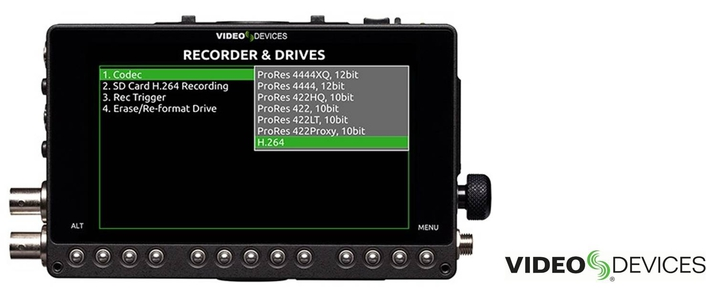 H.264 RECORDING CAPABILITIES NOW AVAILABLE  FOR VIDEO DEVICES' PIX-E SERIES