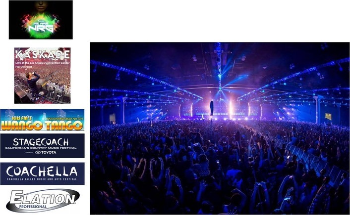 Visions Lighting Uses Elation Gear on String of Early Season Events