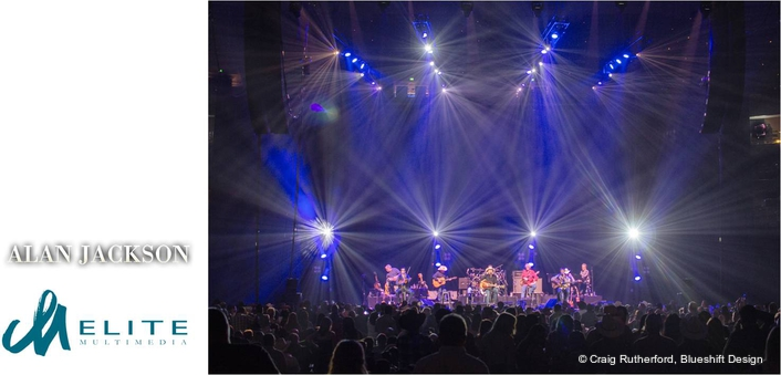 Elite Multimedia provides compelling dimensionality for the Alan Jackson tour