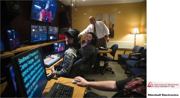 Students At Southeast Missouri State University TV & Film Department Clearly Monitor Its Programming With Marshall