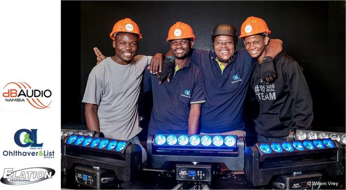 'Futuristic' Elation Lighting for O&L Group Roadshow in Namibia