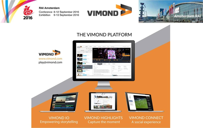 IBC 2016: Vimond Launches New Video Editing and Rights Management Tools