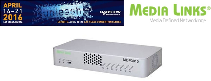 Media Links Launches Compact IP to J2K Decoder at NAB 2016