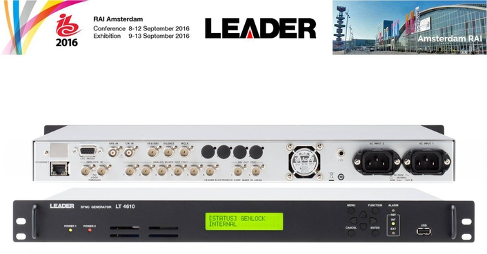 Leader to Show Latest Test & Measurement Innovations at IBC2016
