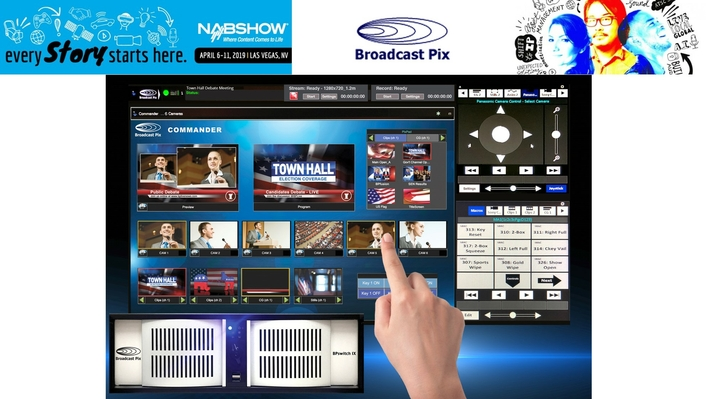 Broadcast Pix Introduces BPswitch IX Integrated ProductionSwitcher with Expanded IP Connectivity at NAB2019