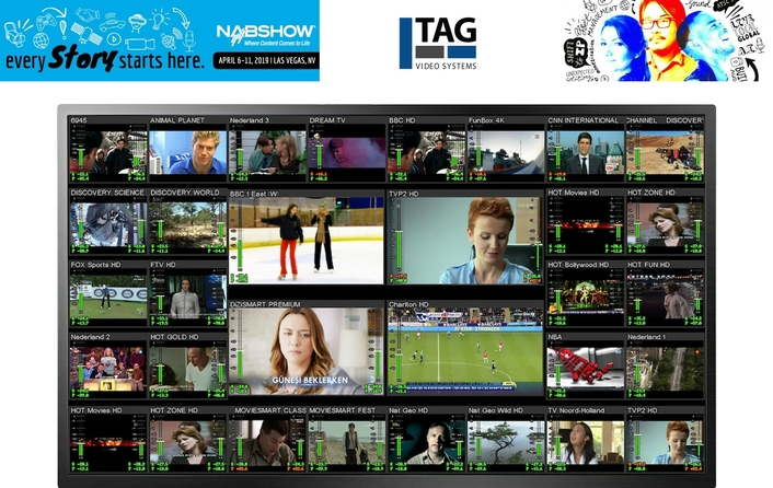 Catch TAG V.S. in Action on the LVCC Floor at NAB 2019!