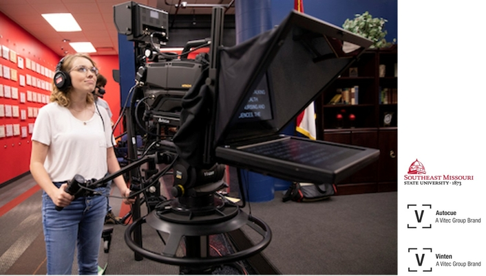 SEMO MASS MEDIA STUDENTS GAIN VITAL REAL-WORLD EXPERIENCE WITH VINTEN CAMERA SUPPORT EQUIPMENT AND AUTOCUE TELEPROMPTER