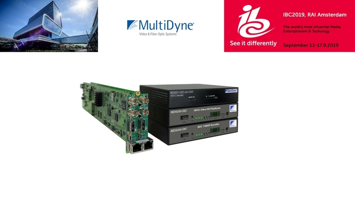 IBC2019: MultiDyne Extends Signal Processing Reach with MD9200 Compression Series