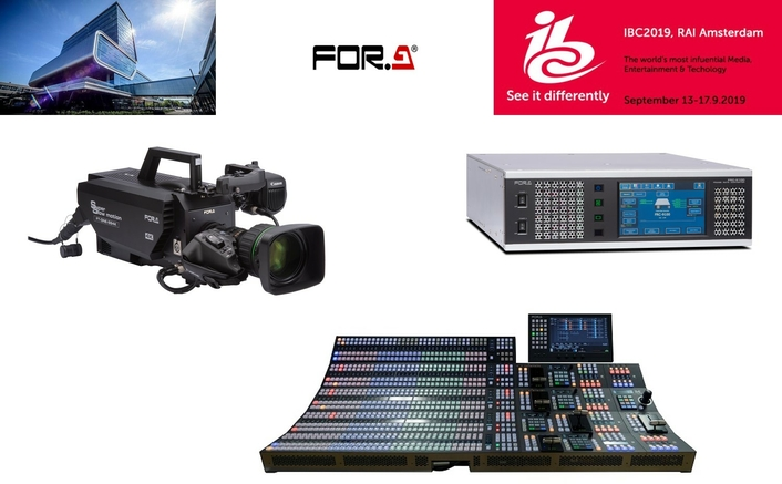 IBC2019 Show: FOR-A's 12G and 4K Focus Continues with Strengthened Emphasis on IP Connectivity and HDR Resolution