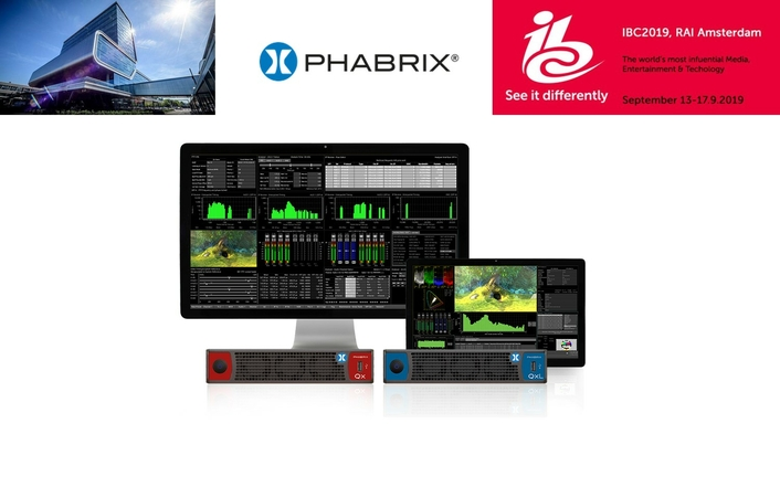 PHABRIX to demonstrate ST 2110/2022-7, HDR/WCG and 4K/UHD test and measurement instruments at IBC2019