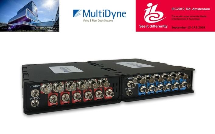 MultiDyne Evolves 12G Series of Fiber Transport Solutions at IBC2019