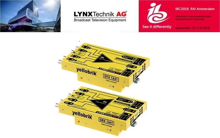 LYNX Technik Launches yellobrik 8K Fiber Transmission Solution at IBC2019