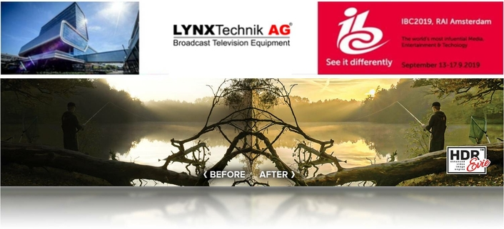 LYNX Technik Debut's HDR Evie+ at IBC2019