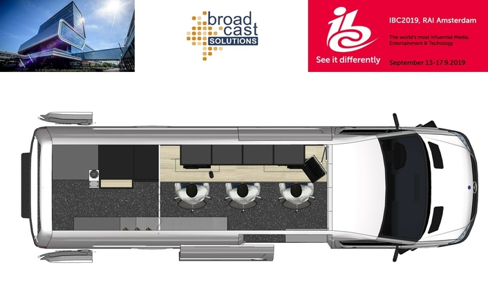 Broadcast Solutions proves flexible vehicle design with its new Concept Van at IBC 2019