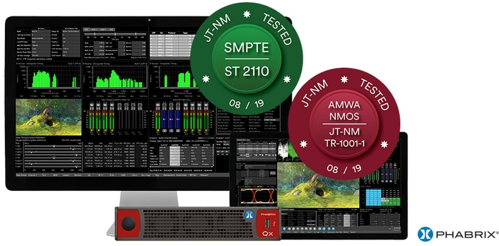 PHABRIX successfully passes ST 2110 and AMWA NMOS TR-1001-1 JT-NM Testing