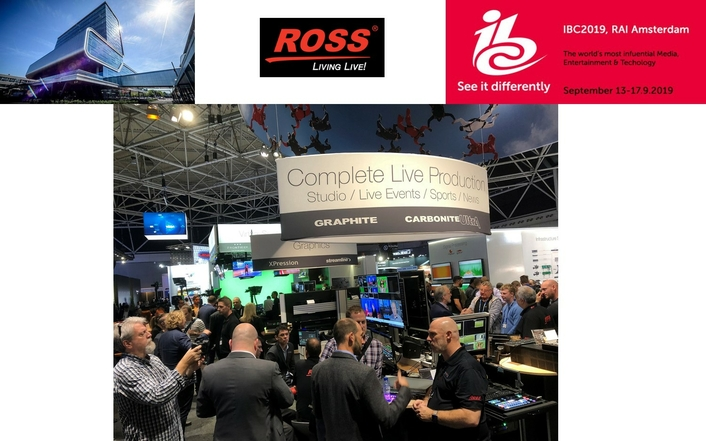 Ross Video Announces Last Minute Surprises on Day One of IBC2019