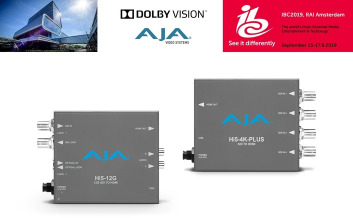 AJA Introduces Dolby Vision Support for 4K Mini-Converters at IBC2019