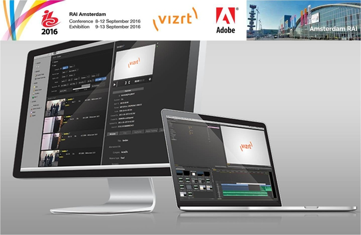 Vizrt to present efficient new workflows with Adobe video tools at IBC2016